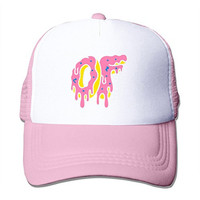 LIANBANG Odd Future Wolf Gang bruh we Kill Em All Adjustable Printing Mesh Cap Unisex Adult Sun Visor Baseball Mesh Hat - Pink