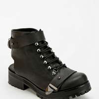 Deena & Ozzy Back-Cutout Combat Ankle Boot - Urban Outfitters