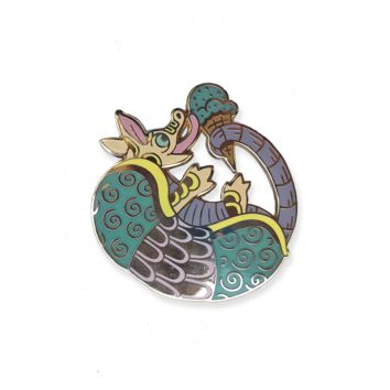 Sunday Armadillo Pin