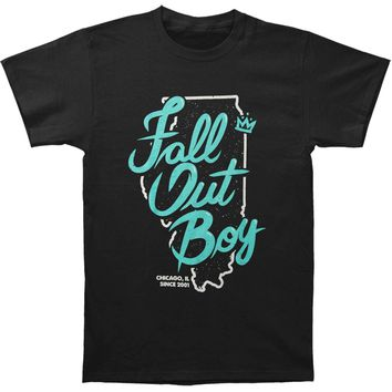 Fall Out Boy Men's  Chicago Slim Fit T-shirt Black