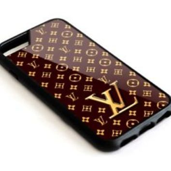 Best_Louis Vuitton Inspired Brown For iPhone 7 7+ 8 8+ Cover Protect Case