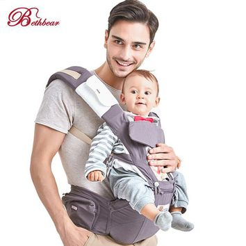 Toddler Backpack class Bethbear Newborn 3 in 1 Infant Toddler Ergonomic Bag Baby kids 0 -36 Months Breathable Carrier Sling Backpack With Hip Seat Wrap AT_50_3