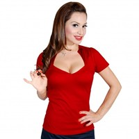 Steady Clothing Red Sophia Top | Pin Up Retro Top