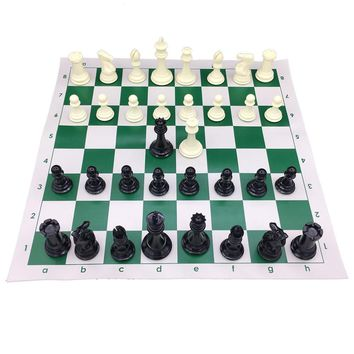 Cool Heavy Big Large Size Chess Pieces King 10.6 cm With 51 cm * 51 cm Vinyl Chessboard Tournament Chess Set Roll Up Chess 2  QueenAT_93_12