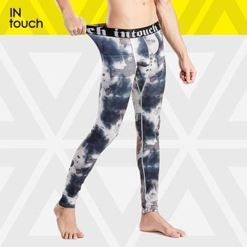 Brand Thermal Underwear Long Johns Men Camouflage pattern Thermal sleep bottom Thin Pants autumn thermal Fashion Leader Intouch