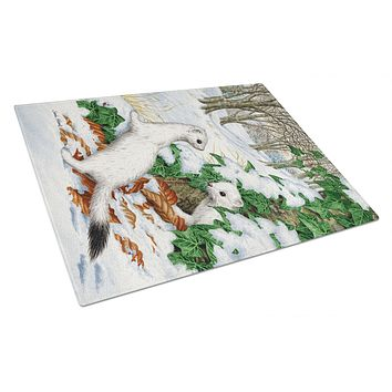 Stoats Short-tailed Weasel Glass Cutting Board Large ASA2042LCB