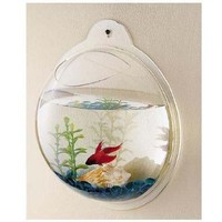 Wall Mount Hanging Beta Fish Bubble Aquarium Bowl Tank:Amazon:Pet Supplies