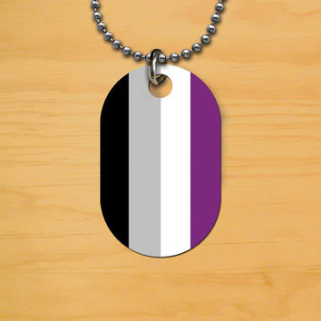 Asexual Pride Dog Tag
