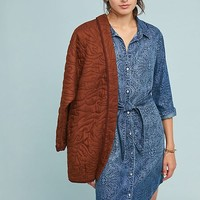 Cloth & Stone Printed Chambray Shirtdress