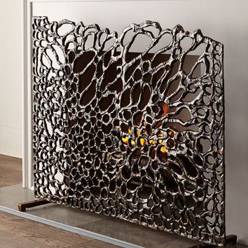John-Richard Collection Organic Fireplace Screen