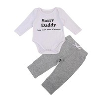 """Sorry Daddy"" Unisex Cotton Onesuit"