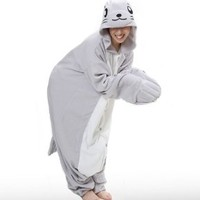 Sea Lion Seal Kigurumi - Japanese Sazac Cosplay Costume Pajamas (One Size)