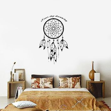 Wall Decal Dream Catcher Dreamcatcher Talisman Quote Never Stop Dreaming (z2783) Day-First™