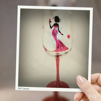 Wine Glass Decal for the DIY in you, Wine, Personalized, Bridal Party, Bachorelette Party, Girls Night, Sassy