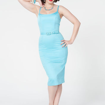 Final Sale - Pinup Couture Jayne Dress in Baby Blue