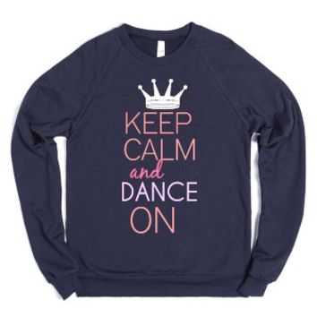 Keep Calm Dance On Tee-Unisex Navy Sweatshirt