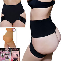 Black High Waist Hip Underwear