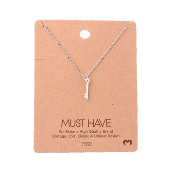 Must Have-Key Necklace, Silver