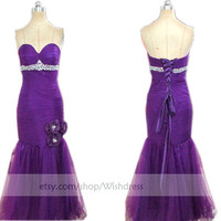 Regency Sexy Mermaid Prom Dress/ Formal Dress/ Party Dress/ Homecoming Dress/ Formal Gown from wishdress