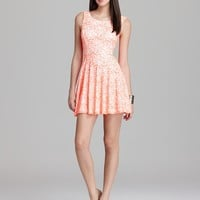 GUESS Dress - Fit and Flare Lace | Bloomingdale's