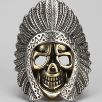 Ransom + Bond Skull And Feather Ring - Urban Outfitters