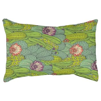 Cactus Flower Pattern Dog Bed