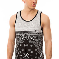 The Bandamn It Tank in Black and Grey
