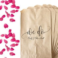 Custom Wedding Stamp - Wedding Favor Bag Stamp - Flower Petals Toss Bag - Birdseed Toss Bag - Confetti Toss Bag - We Do Wedding Stamp