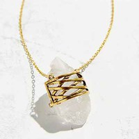 Geo Wrapped Crystal Pendant Necklace - Urban Outfitters