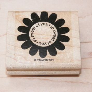 Stampin Up Wood Block Stamps Assorted lot of Three For Card Making