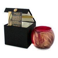 Esque Polished Globe Candle - Cranberry 4 inch