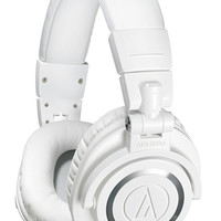 Audio-Technica ATH-M50x Closed-Back Professional Dynamic Studio Monitor Headphones - White