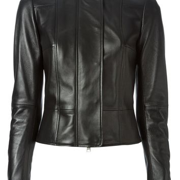 Alexander McQueen fitted biker jacket