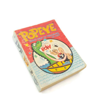 Vintage Popeye Ghost Ship To Treasure Island Book