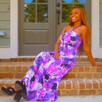 Purple grape summer dress