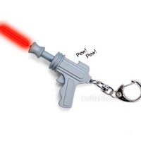 Space Gun Led Keychain With Laser Sound Effects