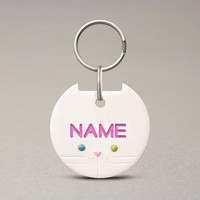 Odd Eyed Cat ID Tag - Cute Pet Name Tag, Personalized ID Tag For Pets, Cat Collar Tag