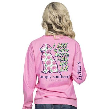 "Youth Simply Southern ""Preppy Mutt"" Long Sleeve Tee"