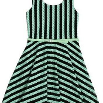 Striped Mesh Bow Back Dress | Girls Dresses Clothes | Shop Justice