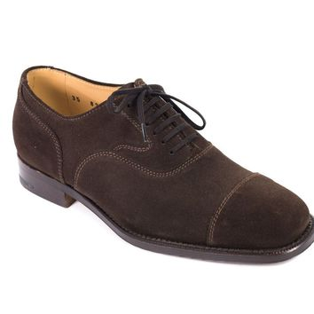 Church's Camilla Womens Brown Suede Lace Oxfords Shoes