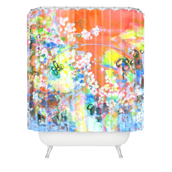 Laura Trevey Coral Delight Shower Curtain