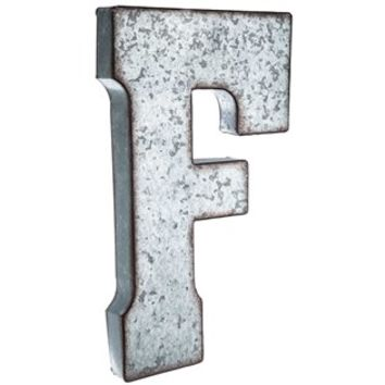 Large Galvanized Metal Letter - F | Shop Hobby Lobby
