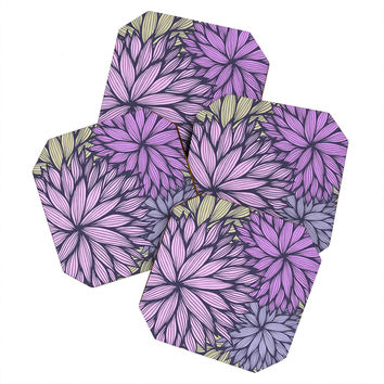 Gabi Purple Dahlia Coaster Set