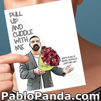 Cute Valentine Card | Drake | Husband Gift Card For Wife God'S Plan Boy Valentines Gift For Friend Drizzy Drake Valentine Gift For Her Once