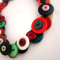 Long Button Necklace