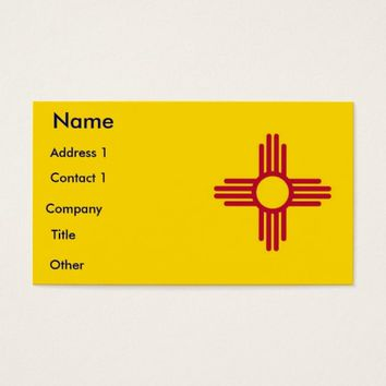 Business Card with Flag of New Mexico U.S.A.