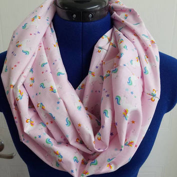 Unicorn  - unicorns - rainbow - rainbows - fantasy - fairytale - fabric  - infinity  - scarf