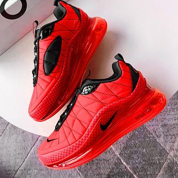 NIKE MAX-720-818 Trending Knit Line Shoe Plaid Shoes Sneakers Red