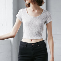 Nollie Mark Ribbed Cropped T-Shirt at PacSun.com