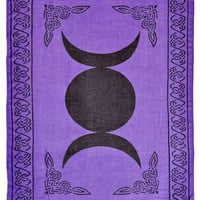 Purple Triple Goddess Altar Cloth